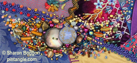 crazy quilt Pocket detail  2
