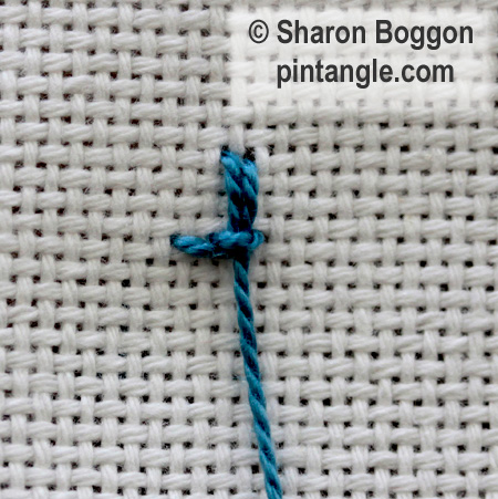 Alternating Up and down buttonhole 4