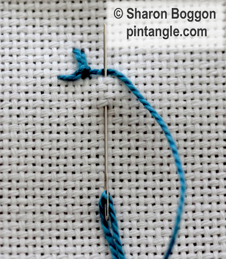 Alternating Up and down buttonhole 5