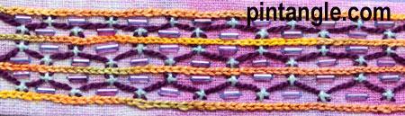 Freeform Hand Embroidery Sampler detail 682