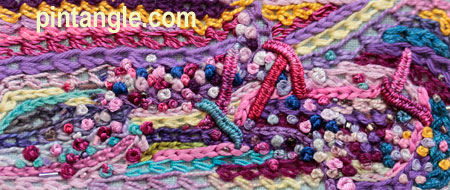 freeform needlework sampler