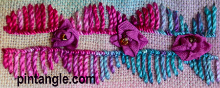 Freeform Hand Embroidery Sampler detail 685