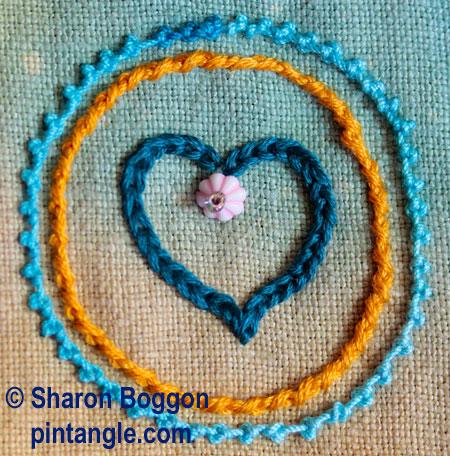 freeform needlework sampler