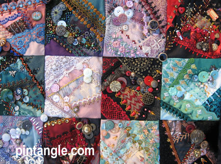 Crazy quilt block 80 in quilt