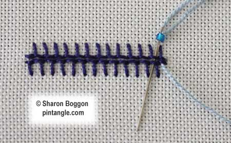Beaded Barb Stitch step  1