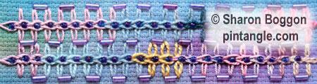 Sample of Triple Chain Stitch