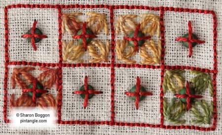 Needlework Sampler detail