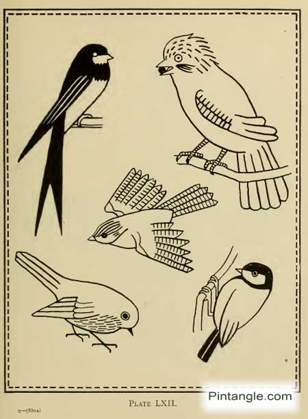 free hand embroidery pattern of birds