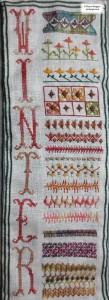Needlework sampler section 51 a