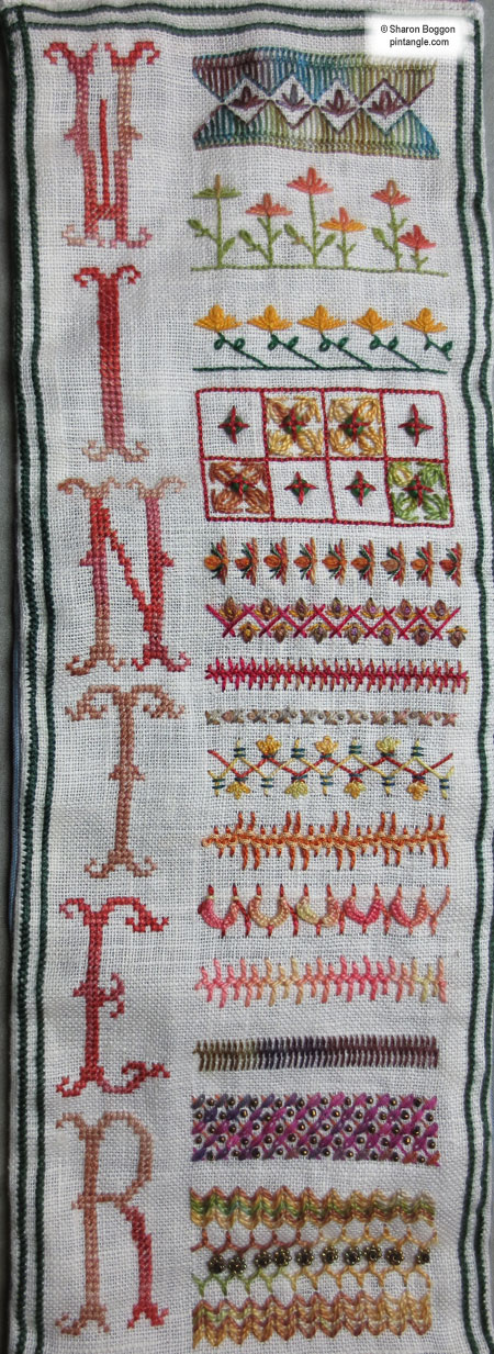 Needlework sampler section 51 a