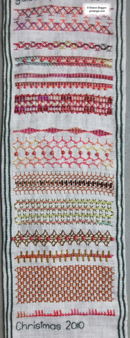 Needlework sampler section 51 g