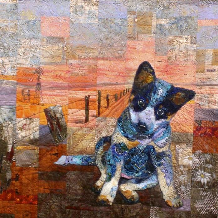 Beginning True a quilt by Sue de Vanny steals the show