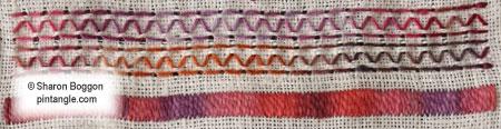 hand embroidered sampler band