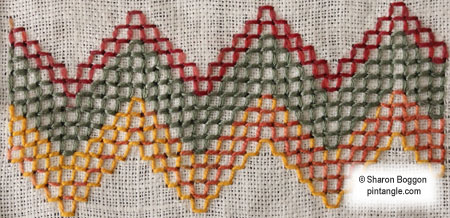 hand embroidery sampler detail 715