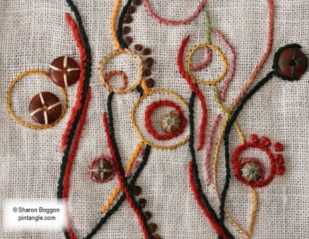 hand embroidery sampler detail 718