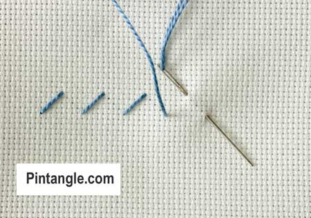 step by step instructions on how work Alternating Cross stitch 1