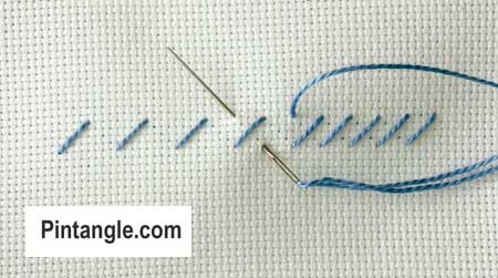 step by step instructions on how work Alternating Cross stitch 2