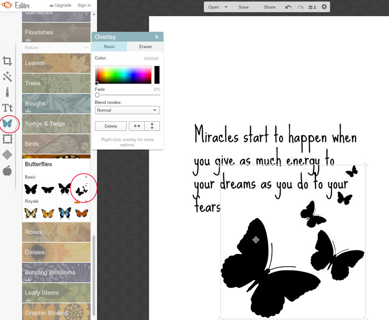 How to use PicMonkey to create your own embroidery designs
