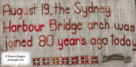 hand embroidery band sampler detail 726