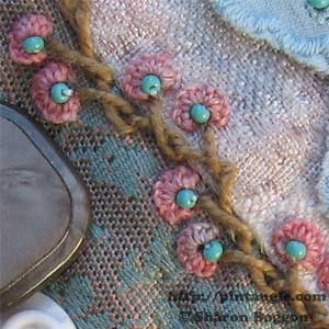 Alternating Barred chain stitch sample 5