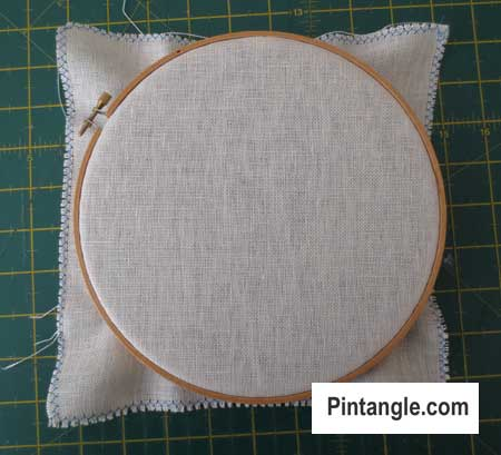 How to use an embroidery hoop step 9