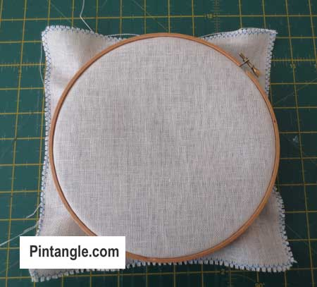 How to use an embroidery hoop step 10