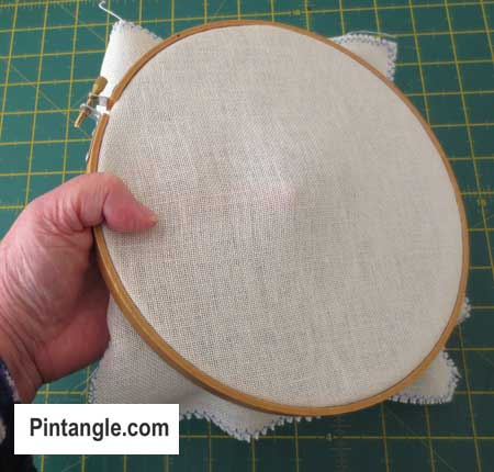 How to use an embroidery hoop step 11