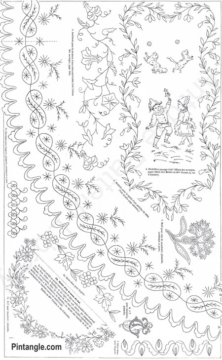 A Collection Of Free Hand Embroidery Patterns Pintangle