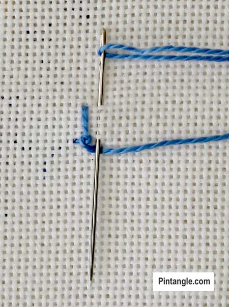step by step tutorial on Fancy Bobbin Edging 5