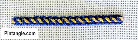 Double Whipped chain stitch 3