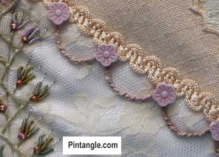 Whipped chain stitch sample 2