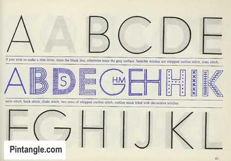 Lettering for Stitchers design ideas 1