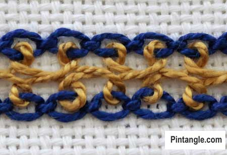 Interlaced Cable Chain Stitch