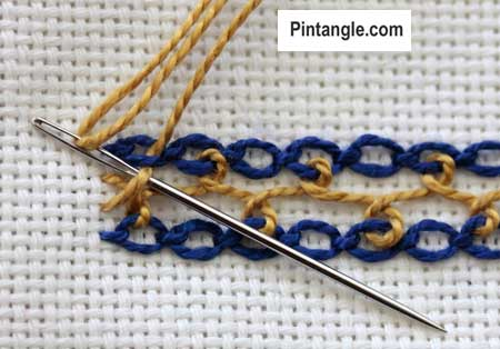 Interlaced Cable Chain step 7