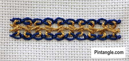 Interlaced Cable Chain step 9