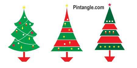 Free Christmas tree pattern coloured