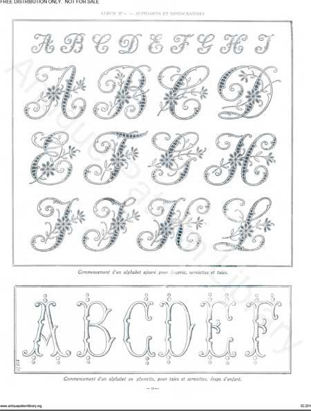 free monogram patterns 4