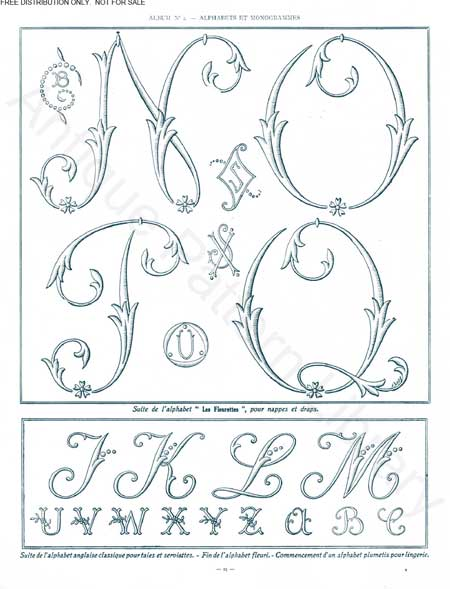 free Monograms for Hand Embroidery 3