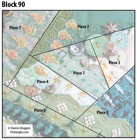 Crazy quilt block 90 diagram