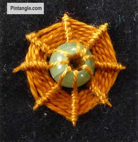 Whipped Spoke Stitch arounda bead