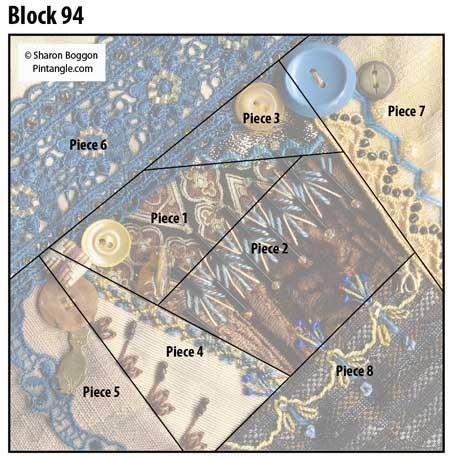 Crazy Quilt Block 94 diagram