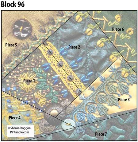 Crazy quilt block 96 diagram