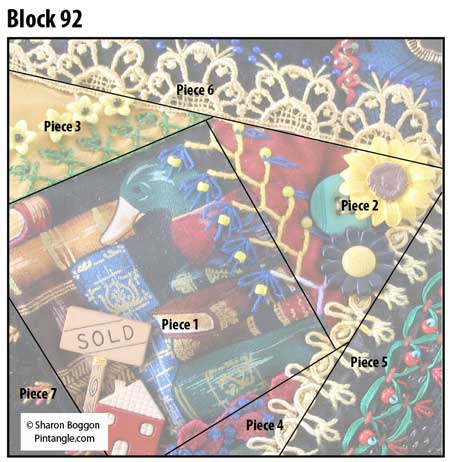 Crazy Quilt block 92 diagram