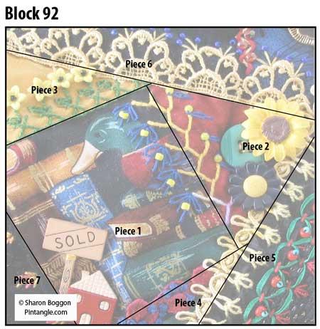 Crazy Quilt block 92 diagram
