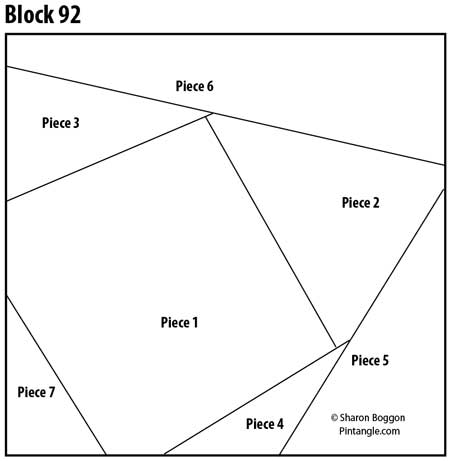 Crazy Quilt block 92 pattern