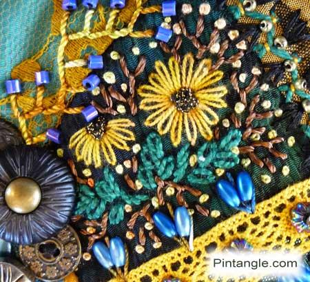 Crazy quilt block 96 detail 620
