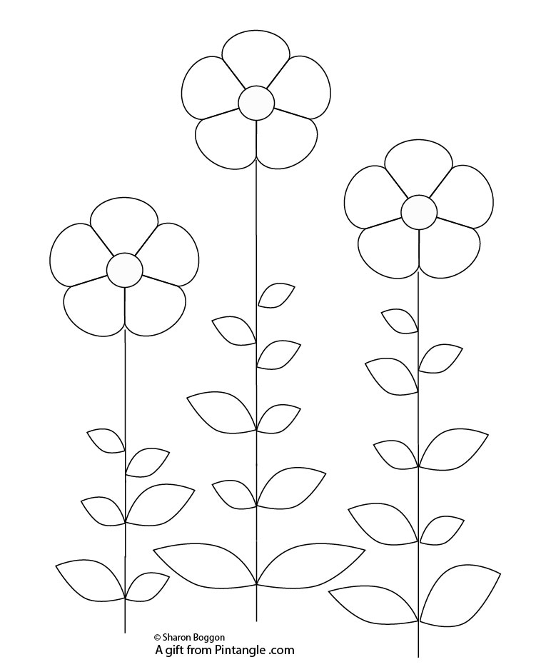 Free Hand Embroidery Pattern of Abstract Seed Pods