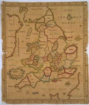 map embroidery sampler