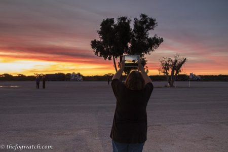 me taking a photos of the sunset