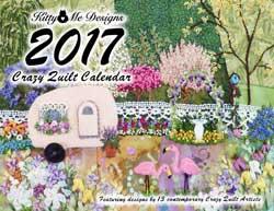 Crazy quilt Calendar cover 2017